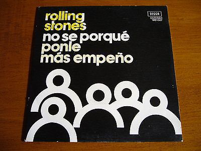 """THE ROLLING STONES 7""""45 I Don't Know Why + 1 (DECCA MO 1507 - SPAIN 1975)"""