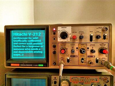 Hitachi analogue oscilloscope V-212 20 MHz in Great condition