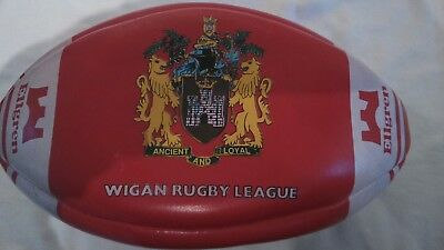 Wigan rugby league leather rugby ball