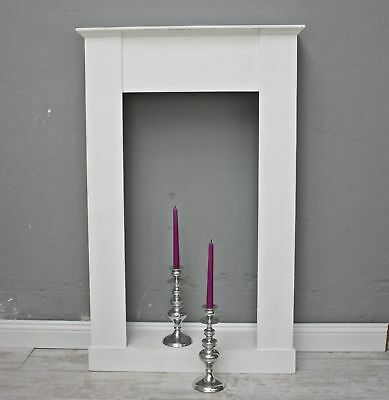 Mantelpiece Fireplaces MDF White for Electric Fireplace and Gel Fireplace