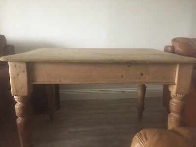 Antique victorian pine table