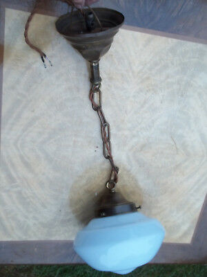 Early 1900's Small Strore Room / School House Pendant Light, Free S/H