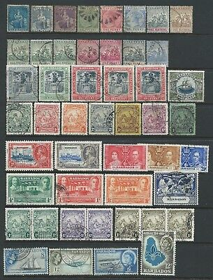 Small collection of mixed used Barbados stamps.