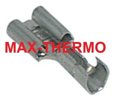 10 x HEAT RESISTANT HIGH TEMPERATURE UNINSULATED SPADE TERMINAL CONNECTORS 6.3mm