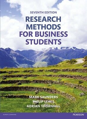 Research Methods for Business Students 7th edition Digital PDF