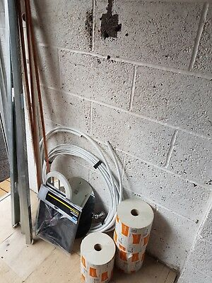 building materials , mixed lot, plastic 10mm central heating pipe, paper,mirrors