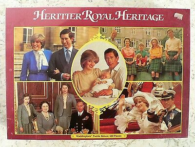NEW Vintage WADDINGTONS Royal Family Heritage DELUXE Puzzle Lady Di 500 pieces
