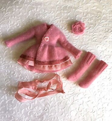 Neo Blythe Clothes Dress Taylor Couture Pink Cashmere Dress