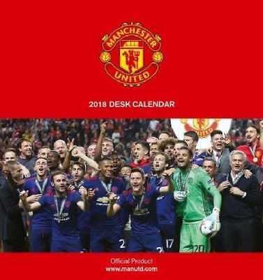 Manchester United Football Club Official 2018 Desk Easel Calendar Calender MUFC