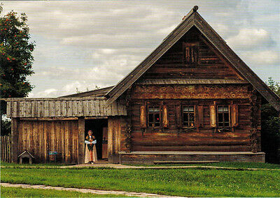 WOODEN HOUSE IN THE VILLAGE Modern Russian postcard