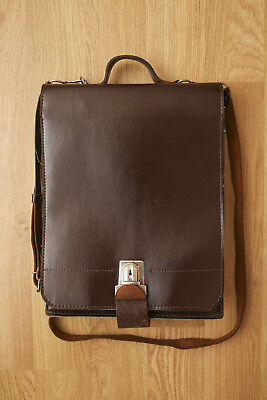 URBAN OUTFITTERS Vintage Brown Leather Satchel Messenger Bag - Exc. Condition