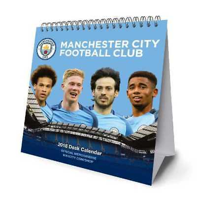 Manchester City Football Club Official 2018 Desk Easel Calendar Calender MCFC