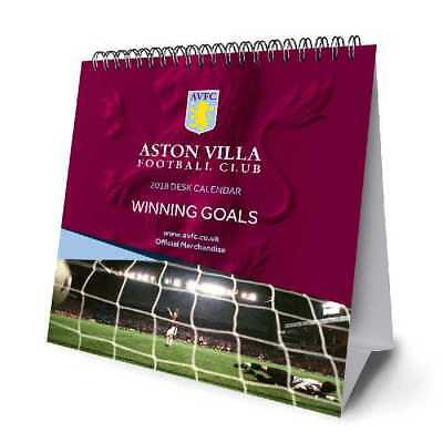 Aston Villa Football Club Official 2018 Desk Easel Calendar Calender AVFC FC