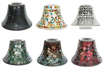New Various Handrafted Mosaic Glass Candle Shades, Fit Yankee Village candle Jar