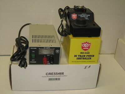 CRE-55401 DC Train Power Controller 10 Amp & CRE-55466,5 Amp Power Supply,NIB