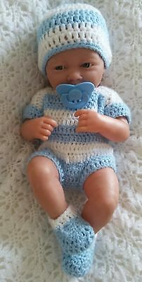 "Hand made clothes set for 14"" LA new born berenguer  cup cake reborn baby doll"