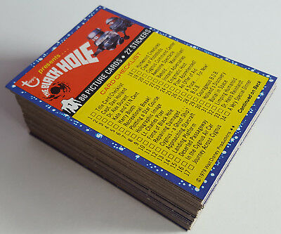 1979 The Black Hole Topps Trading Cards, Complete 88 Card Set.