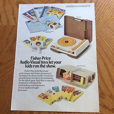 1980 Fisher-Price Print Ad - Audio-Visual Toys - 4 Different Toys Are Pictured