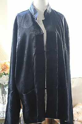 Chinese traditional reversible jacket robe for men size XL