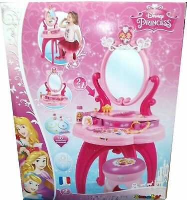 SMOBY DISNEY PRINCESS 2 in 1 DRESSING TABLE WITH STOOL *BNIB-SCUFFED BOX*