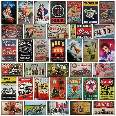 Metal wall plaque | Garage bar shed pub man cave | Vintage Retro Tin Sign | UK