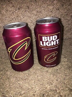(Lot of 4) 2017 NBA Basketball Cleveland Cavaliers Cavs Bud Light Cans
