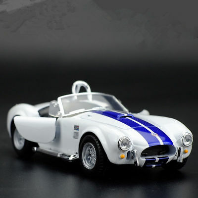 Ford 1965 Shelby Cobra 1:32 Model Cars Open two doors Toys Alloy Diecast White