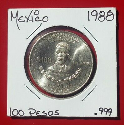 Mexico 100 Pesos, 1988, 50th Anniversary - Nationalization of Oil Industry
