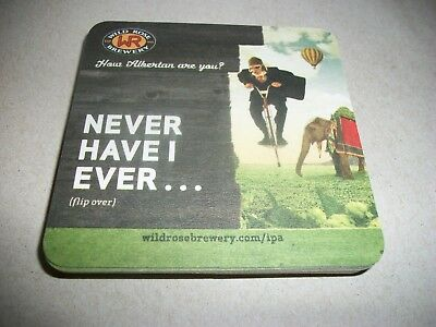 10- Brand New- Wild Rose Brewery-'' Never Have I Ever'' Beer Coasters