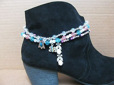 3 Diff Handmade Stretchy Cord Boot Bracelets Multicolors Jewelry Anklets Lot#4