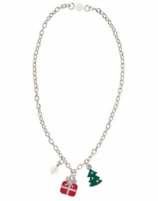 NWT Gymboree Holiday Shop Charm Necklace w/ Present & Christmas Tree  5 6 7 8 10