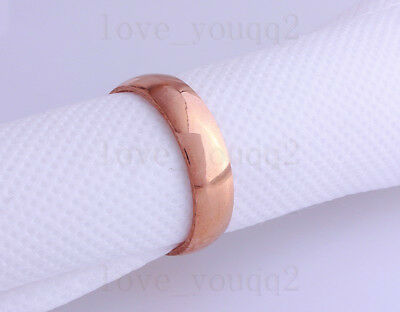 FREE 10Pcs Wholesale Lot Party Wedding Roseo Gold Stainless Steel Eternity Ring