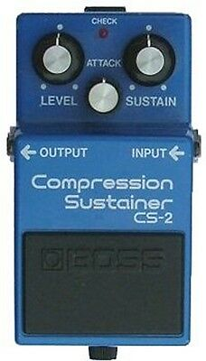 Boss Cs-2 Compression Sustainer Compressor Made In Japan Black Label 1988