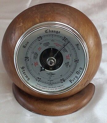Antique Barometer,mid 20Th Century Anaroid Barometer,art Deco Case,make Ryecraft