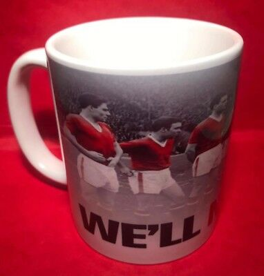 Manchester United Busby Babes Ceramic Mug, We Will Never Die