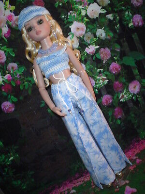 Tonner Ellowyne Lizette Prudence Fashion plus Jewellery Wrap Pants Blue Daisies