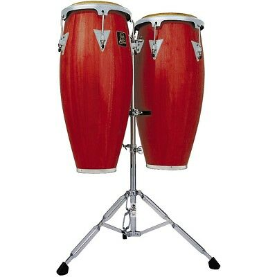 LP LPA646 Aspire Conga Set with Double Stand Red Wood LN