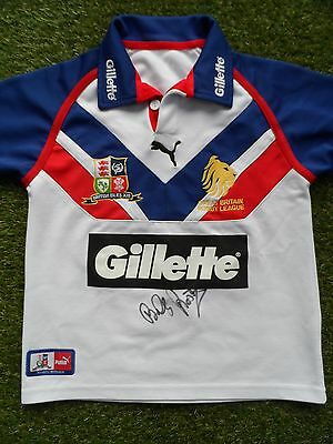 BILLY BOSTON Hand Signed Great Britain 2006 Rugby League Shirt - Autograph