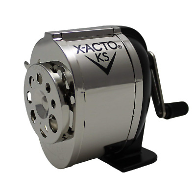 X-Acto Wall Mount Pencil Sharpener Vintage Boston Metal Desk School Crank Manual