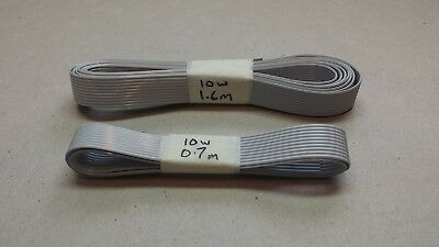 Ribbon Cable 10 way. Grey - 1.6m & 0.7m Lengths