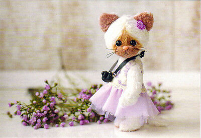Her name is KITTY and she is PHOTOGRAPHER handmade toy Modern Russian postcard