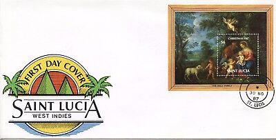 St Lucia  - 1987 Christmas   Fdc1346