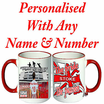 Personalised  Football Shirt Mug For All Stoke City  Football Fans. Great Gift