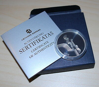 Lithuania 2010 Coin dedicated to music - SILVER PROOF