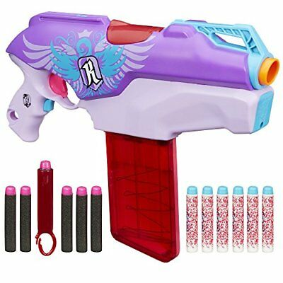 Nerf Rebelle Rapid Red Blaster Kids Girls Toy Gun Game Darts & Rifle New New