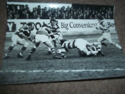 Vintage Rugby League Press Photo Hull V Hunslet April 1977 (2) Daily Mail