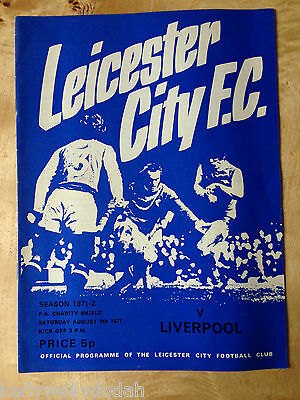 FA Charity Shield 7/8/1971 Leicester City v Liverpool