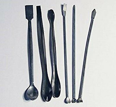 "Stainless Steel Lab Spatula Mini Micro Spoon 6 Piece Set 8"" Medical Pharmacy New"