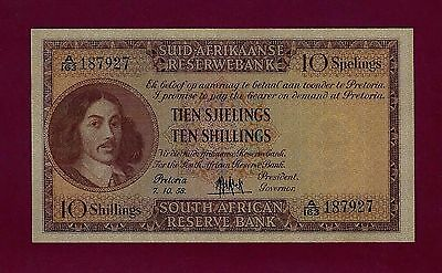 South Africa  10 Shillings 1958 P-91 UNC