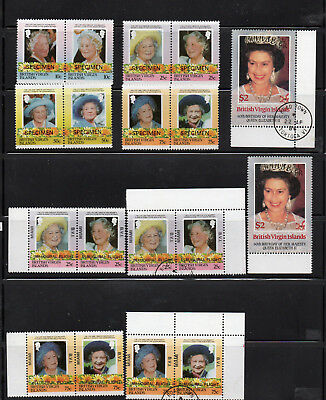 British Virgin Islands  Qeii 4 Different Sets Mnh / Used Royalty ( 24)  Stamps